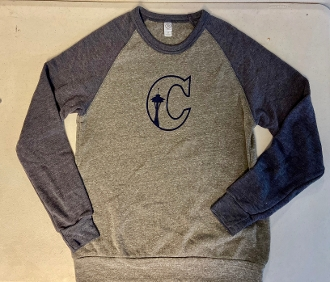 "Unisex Color-Block City ""C"" Sweatshirt"